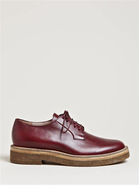 lyst dries noten womens leather derby shoes in brown