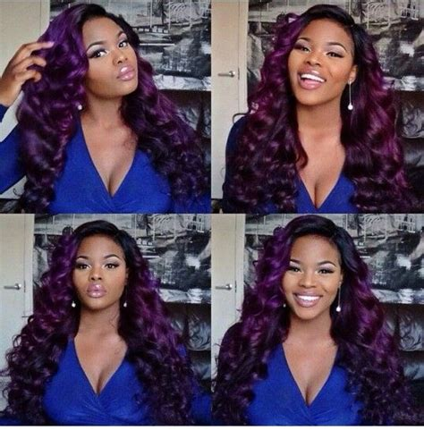 two toned asymetric bobs pintrest 1000 ideas about purple weave hair on pinterest long