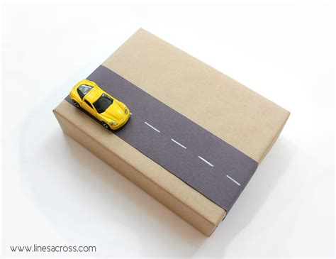 car gift wrap interactive gift wrap for lines across
