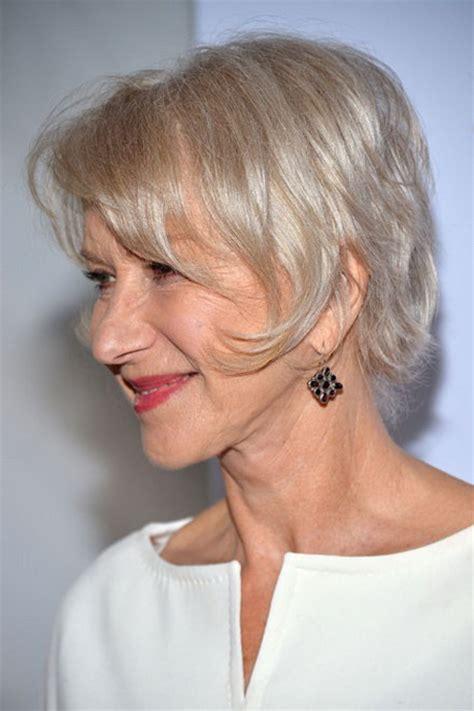 graue haare frisuren