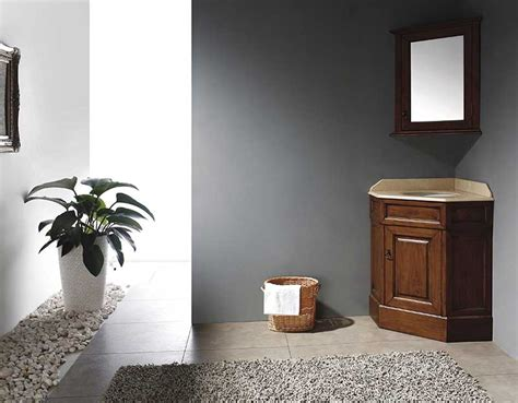 Corner Bathroom Vanity Giving Unique Effect for Small