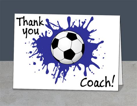 thank you card soccer coach templates soccer thank you soccer coach card coach gift instant