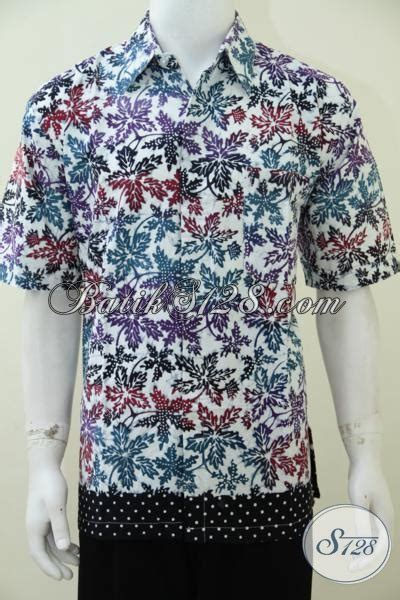 Jaket Motif Daun baju batik pria modern terbaru ukuran xl warna cerah bagus
