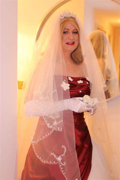 Crossdressing service bride Hannah in a stunning winter