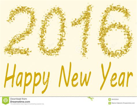 new year gold happy new year 2016 gold spangles stock illustration
