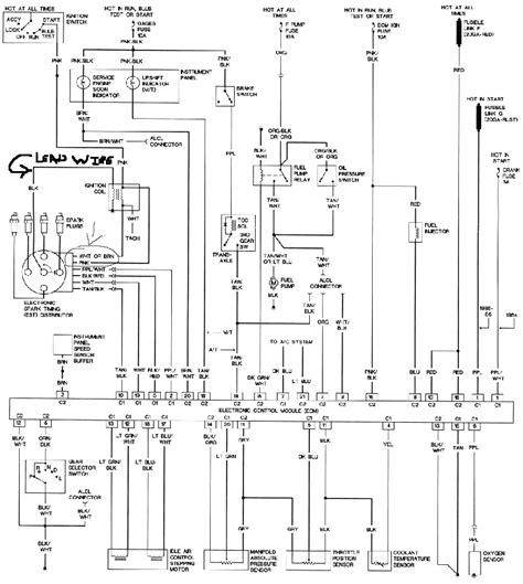 fiero wiring diagram fiero 3 4 dohc wiring harness 29 wiring diagram images
