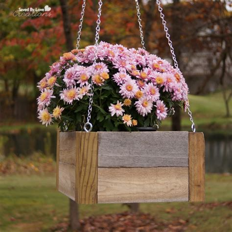 Hanging Flower Planter by Diy Wood Pallet Hanging Planters