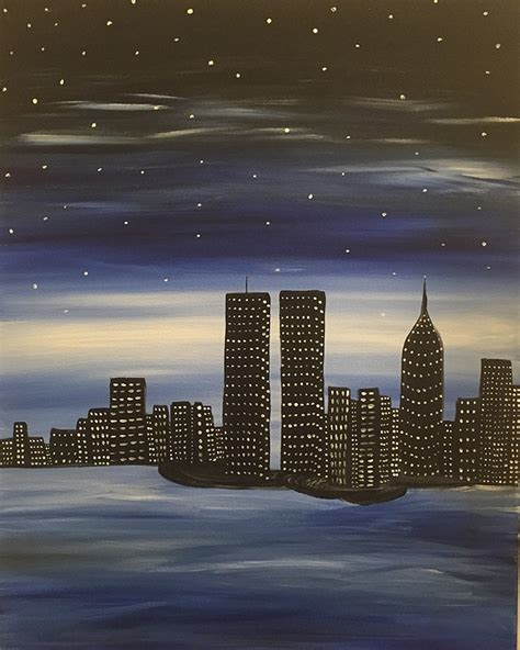paint nite in nyc paint nite nyc skyline tribute