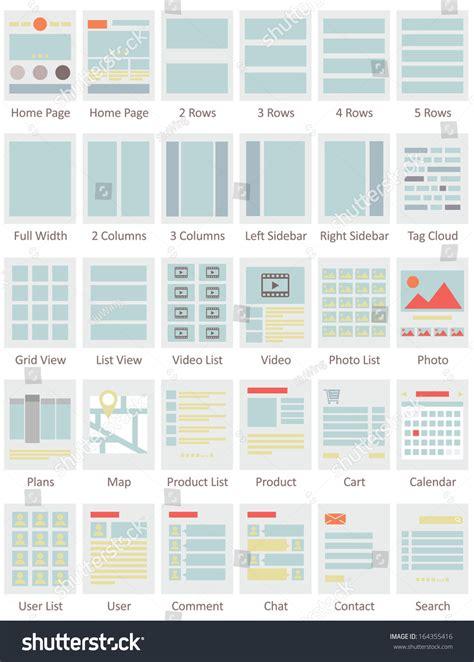 icon design layout web design layout icons stock vector illustration