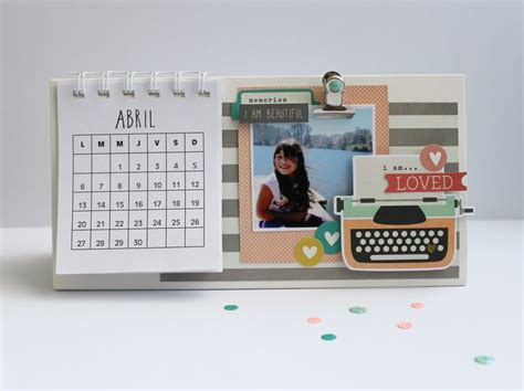 scrapbook calendar tutorial calendario taller revesderecho 11 04 scrapbooking
