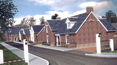 housing development residential housing development in cambridgeshire uk architectural cad 3d visuals