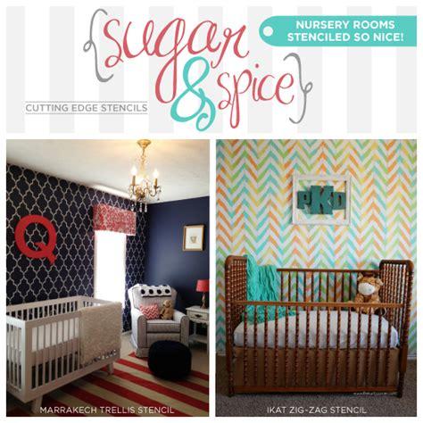 room stencils sugar and spice nursery rooms stenciled so 171 stencil stories