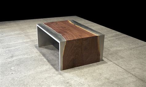 pieces fã r tisch steel and wood coffee table by johnhoushmand