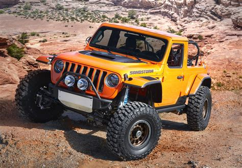 jeep moab truck the jeep sandstorm is a line road bomber