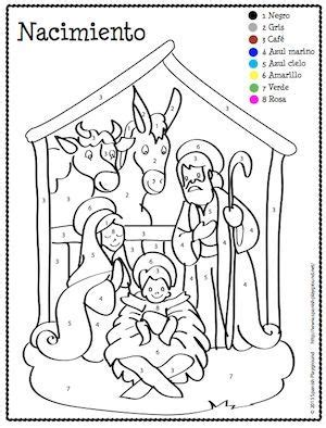 christmas coloring pages in spanish spanish christmas color by number spanish christmas