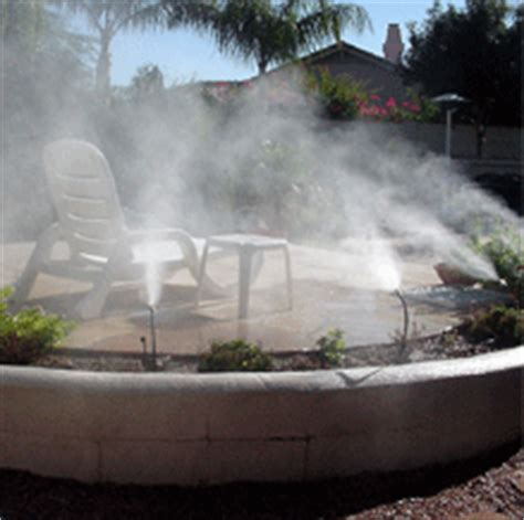 backyard mister misting system and mistcapes for your arizona yard and patio
