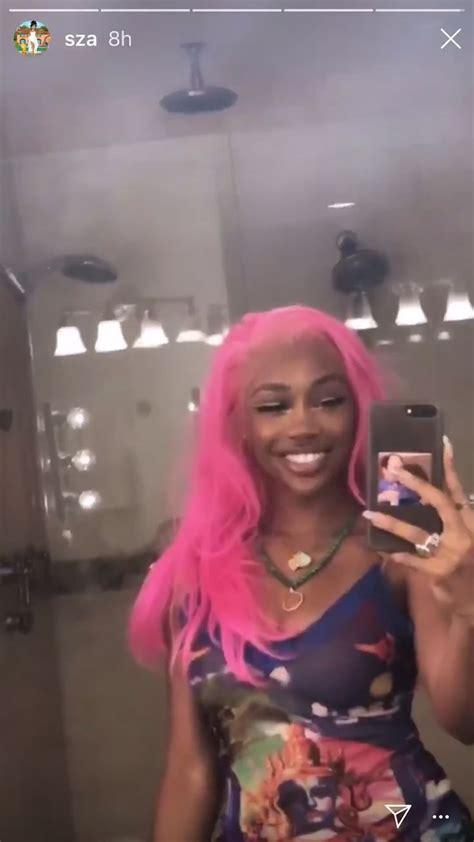 sza video black girl pink hair aesthetic hair pink