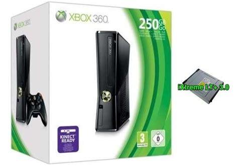 console modificate xbox 360 slim 250 gb modificata con flash bios ixtreme lt