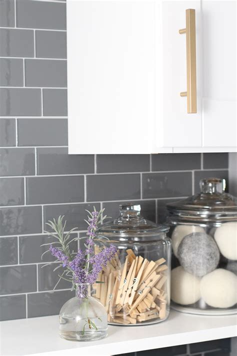 kitchen backsplash tiles peel and stick laundry room update with peel and stick tile backsplash lydi out loud