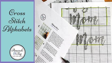pattern maker for cross stitch youtube cross stitch alphabets how to make custom cross stitch