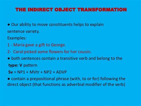 sentence pattern exles for sv sentence transformation chapte 9 presentation