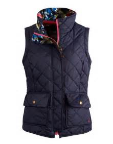 Navy milham womens quilted vest size us 12 joules us