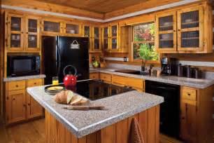 Log cabin kitchens designs kitchen designs with islands