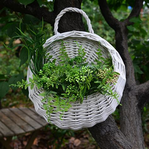Compare Prices On Wicker Hanging Basket Online Shopping Garden Wall Hanging Baskets