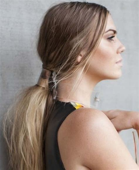 Low Ponytail Hairstyles by 21 Really Popular Trends Styles Weekly