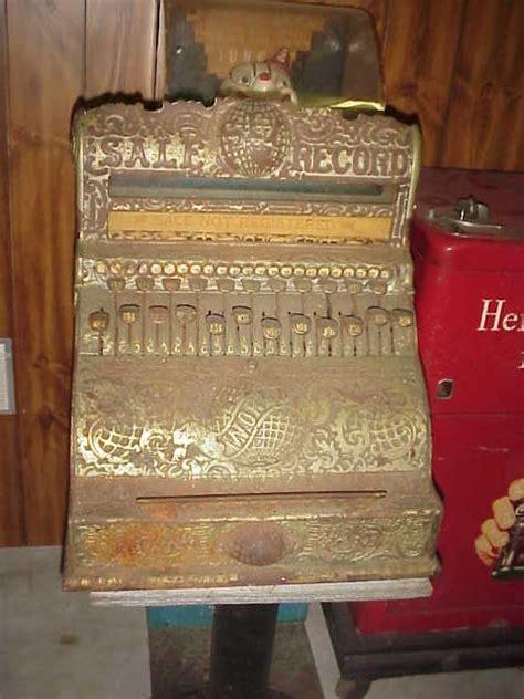globe cash register   ornate antique cash register