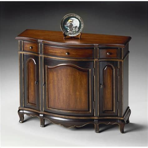 butler specialty console cabinet in cafe noir finish