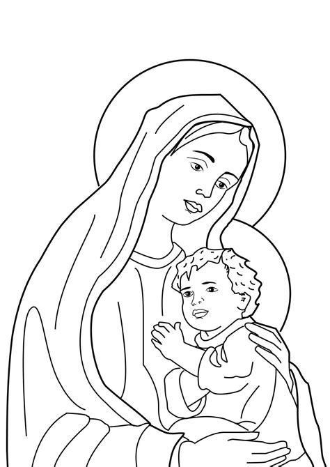 imagen virgen maria para pintar parroquia la inmaculada recursos mes de mayo 4