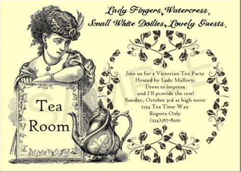 free printable victorian invitation victorian tea party invitations party ideas pinterest