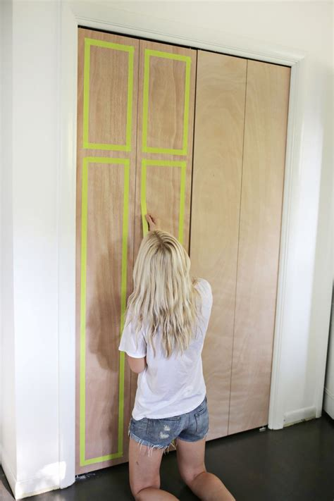 Adding Trim To Bifold Closet Doors - customize your closet doors with trim a beautiful mess