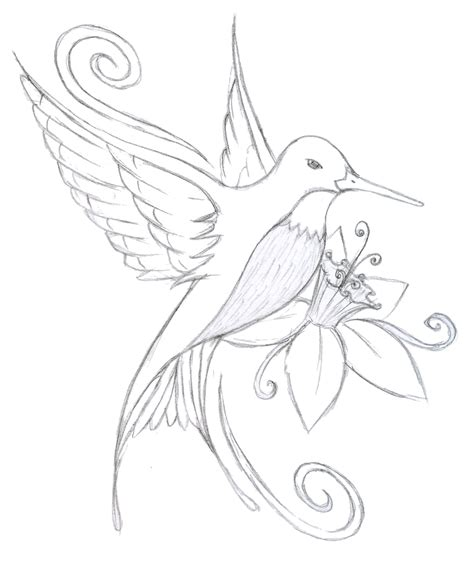 hummingbird outline tattoo hummingbird flower design every has a