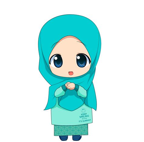wallpaper animasi hijab chibi muslimah 2 by taj92 on deviantart