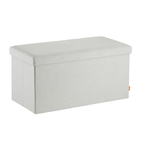 box storage bench light grey poppin box bench the container store