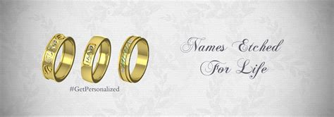 wedding bands with names gold wedding rings with names engraved in kolkata