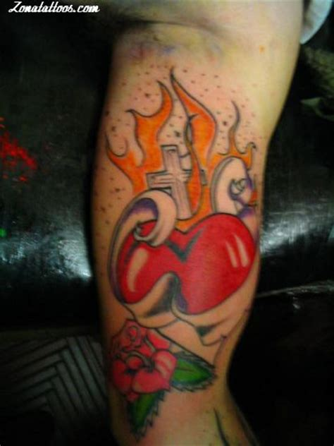 flaming cross tattoo biceps tattoos and designs page 313