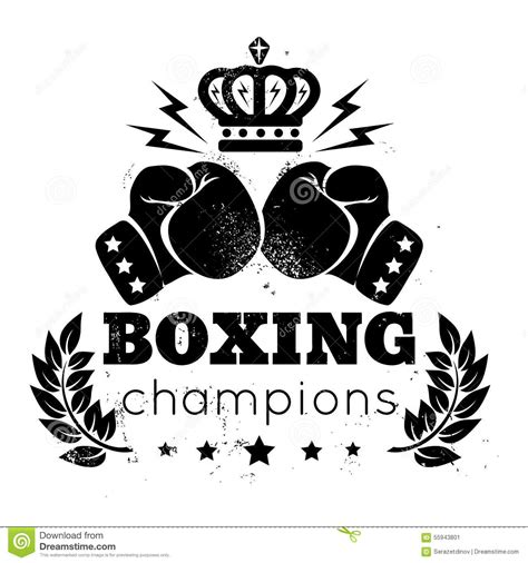 gloves and crown stock vector image of champion grunge