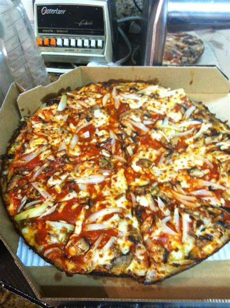 domino pizza hand tossed hand tossed pan pizza with extra sauce and mushrooms n