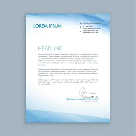 Moderne Newsletter Vorlagen Gesch 228 Ftsbrief Mit Blauen Formen Der Kostenlosen Vektor