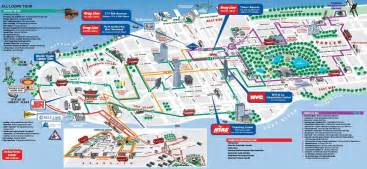 Tourist Map Of New York City by Map Of New York City Outravelling Maps Guide