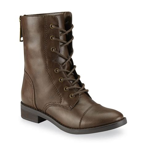 combat boots bongo women s nadine brown combat boot sears
