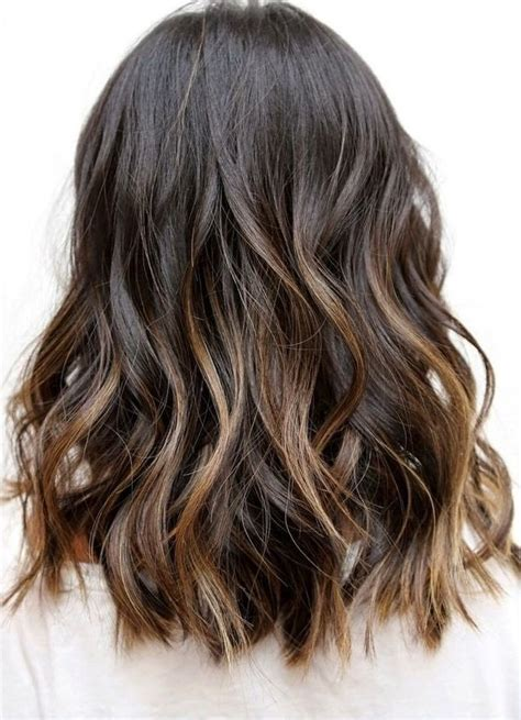 balayage ombre highlights on dark hair top balayage hairstyles for black hair
