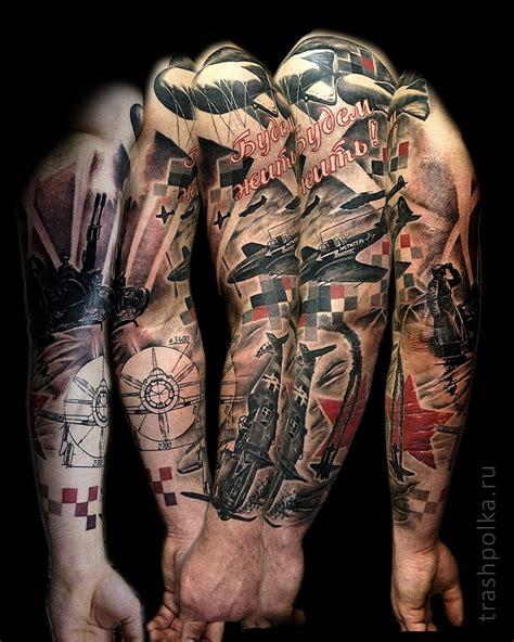 тату рукав посвященный великой отечественной войне