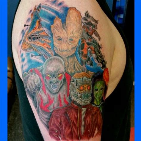 guardians of the galaxy tattoo guardians of the galaxy some of my tattooing