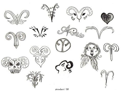 star sign tattoo designs 39 best aries designs images on