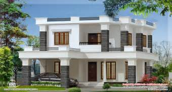 Flat Roof House Design 2000 Sq Feet 4 Bedroom Flat Roof Villa Kerala Home
