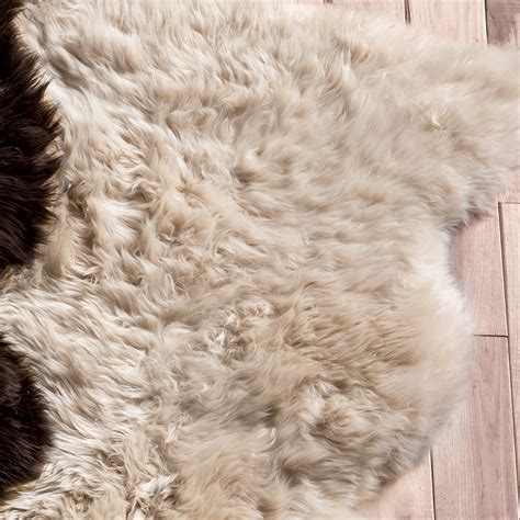 sheeps skin rug southwest rugs chagne large sheepskin rug lone western decor